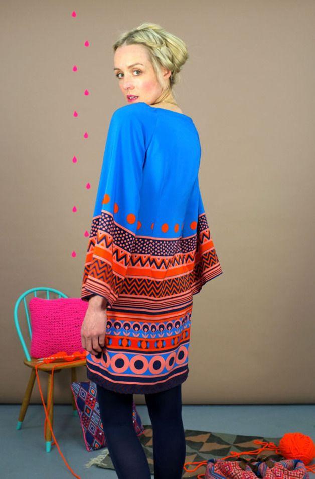 """Mexicokleid """"Folklore Blue""""  Kleider Für Frauen Kleider"""