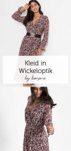 Midikleid In Wickeloptik  Kleid Mit Ärmel Kleider Und