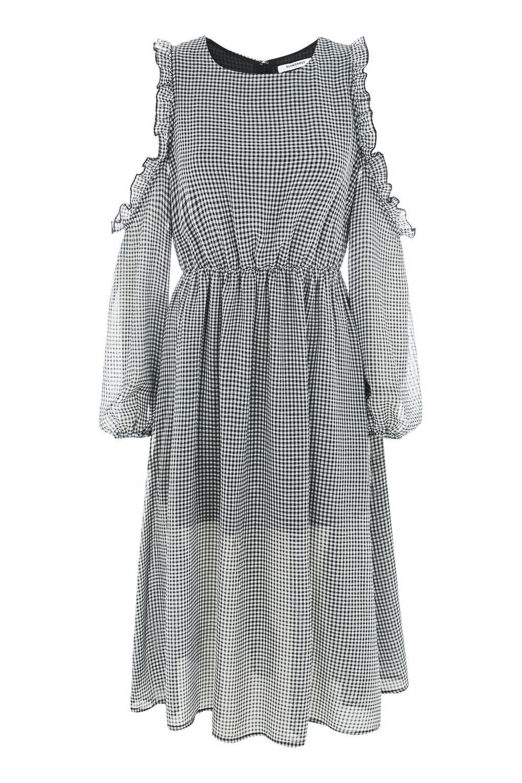Midikleid Mit Vichykaros Von Glamorous  Kleider