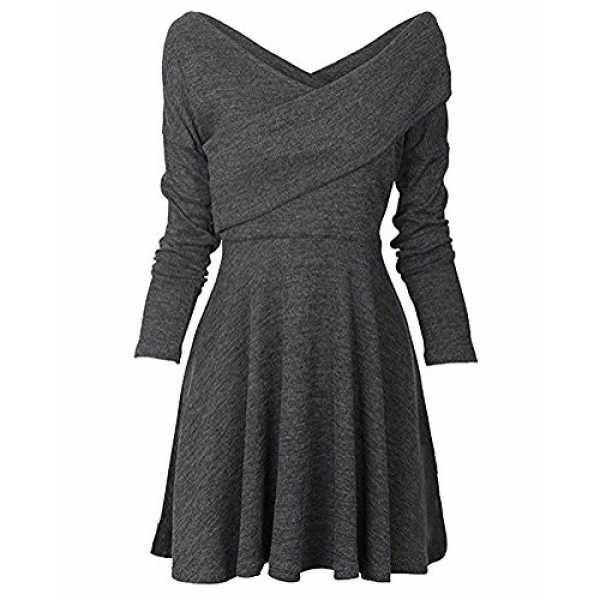 Minetom Damen Pullover Kleider Winterkleider Kleid
