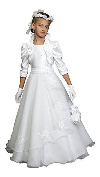 Mingxuerong Festkleider Mädchen Hochzeitskleider Jacke