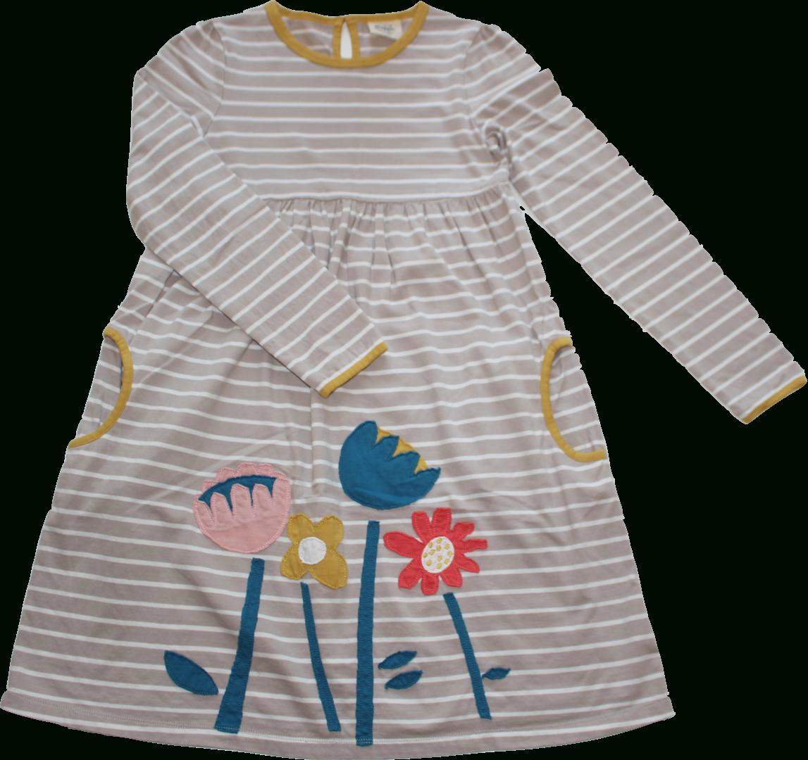 Mini Boden Kleid Blumen Streifen Größe 140/146/152 11