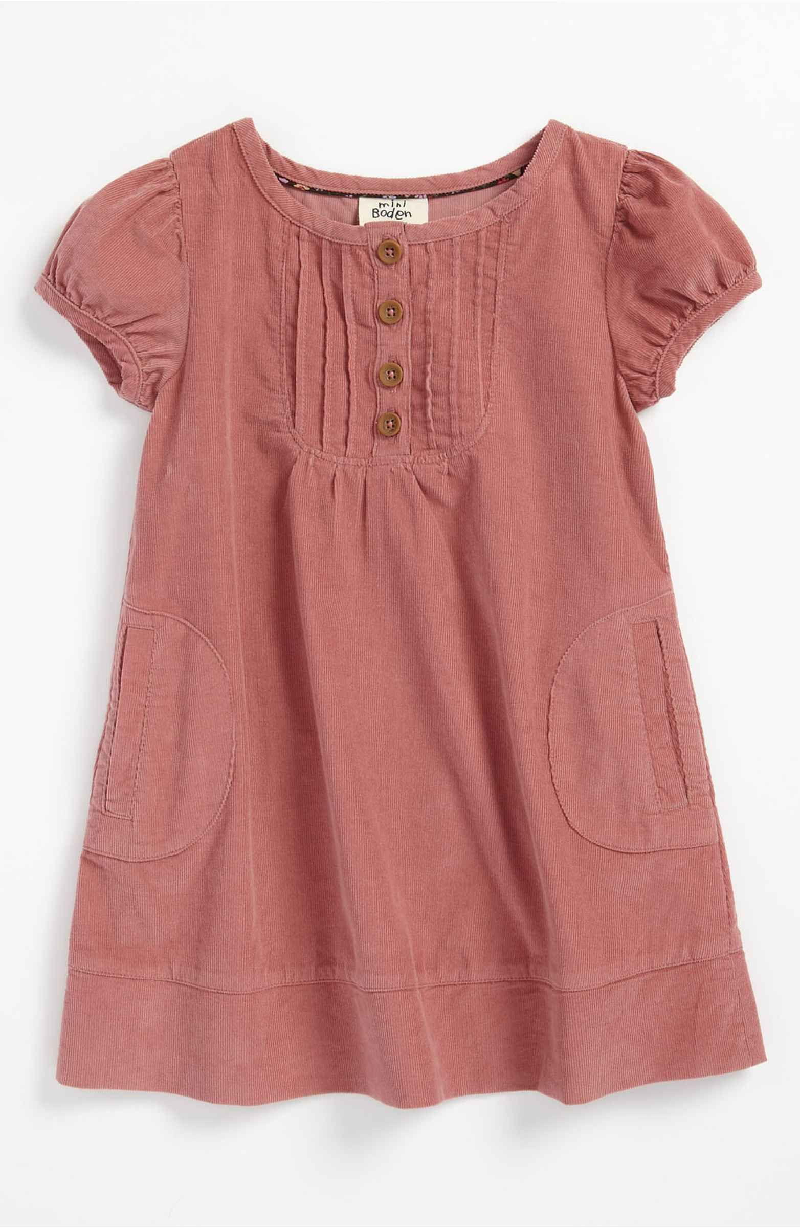 Mini Boden 'Pretty Pintuck' Dress Toddler  Kinder