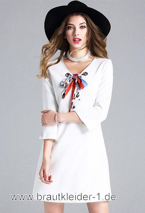 Mini Standesamt Kleid Mode 2019 In Weiss  Mode Modestil