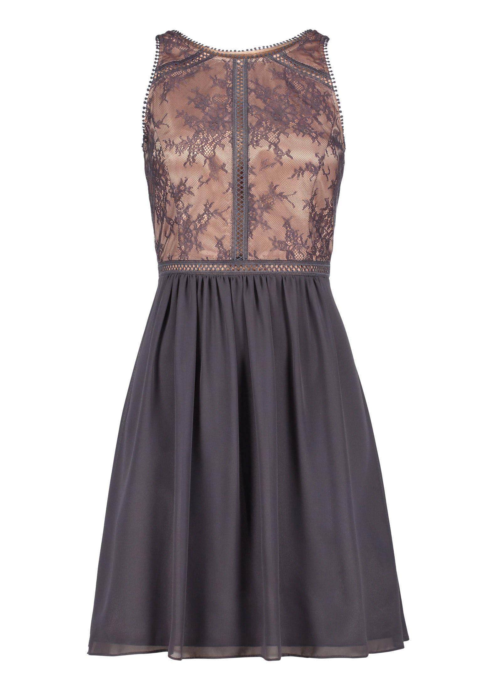 Minikleid Mit Feiner Spitze  Abendkleid Unique Kleider