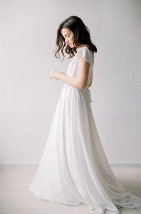 Minimalistische Hochzeitskleid Boho Weißes Kleid