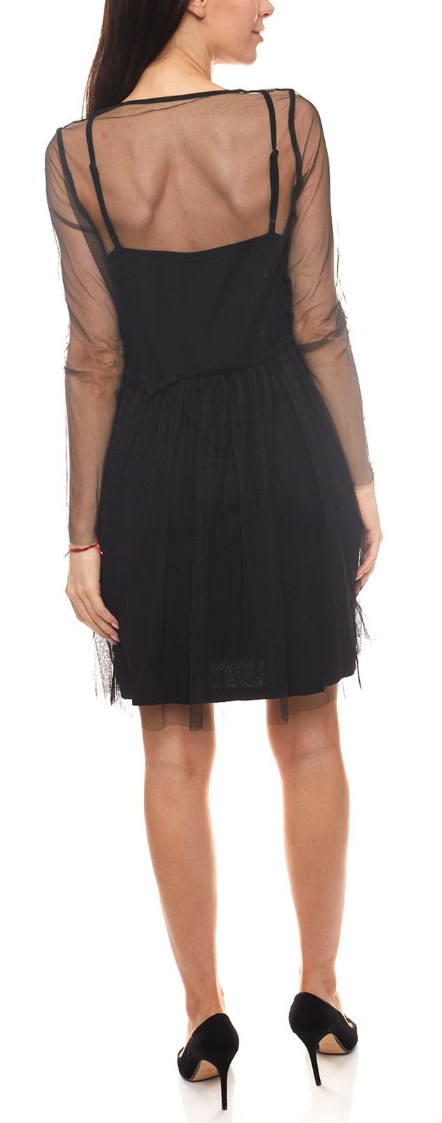 Minimum Minikleid Teilweise Transparentes Damen Kleid Im