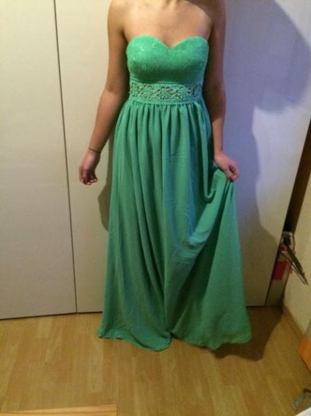 Mint Grünes Langes Kleid