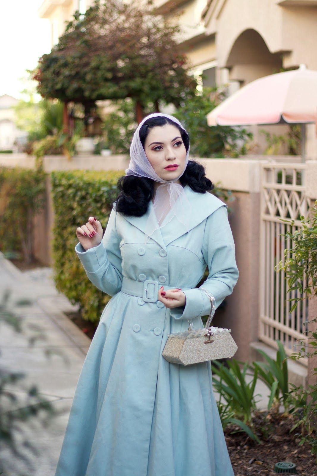 Minty Powder Blues  50Er Jahre Kleidung 50Er Jahre Mode