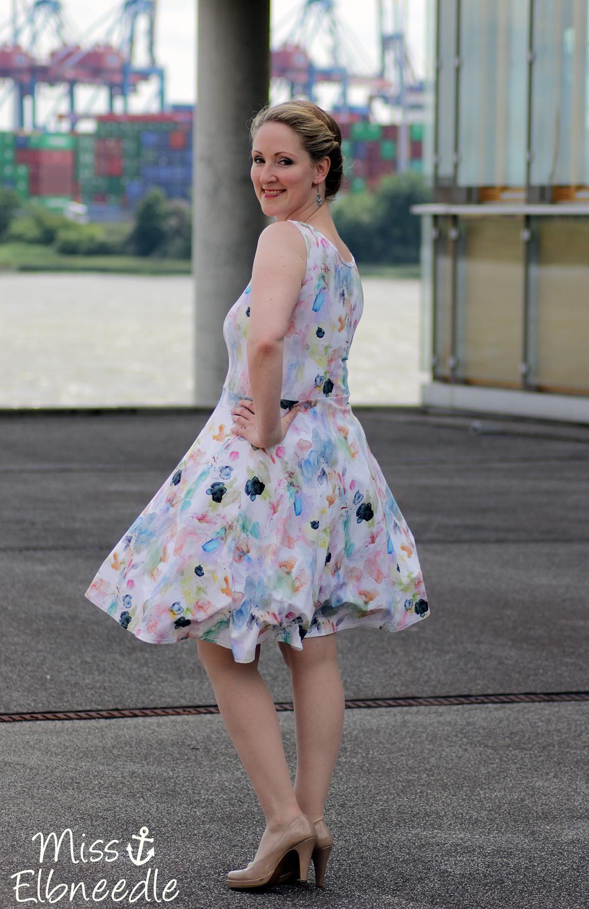 Misselbneedle Fashion Elbe Pastell Kleid Dress