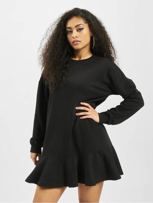 Missguided Damen Kleid Frill Hem In Schwarz 740198