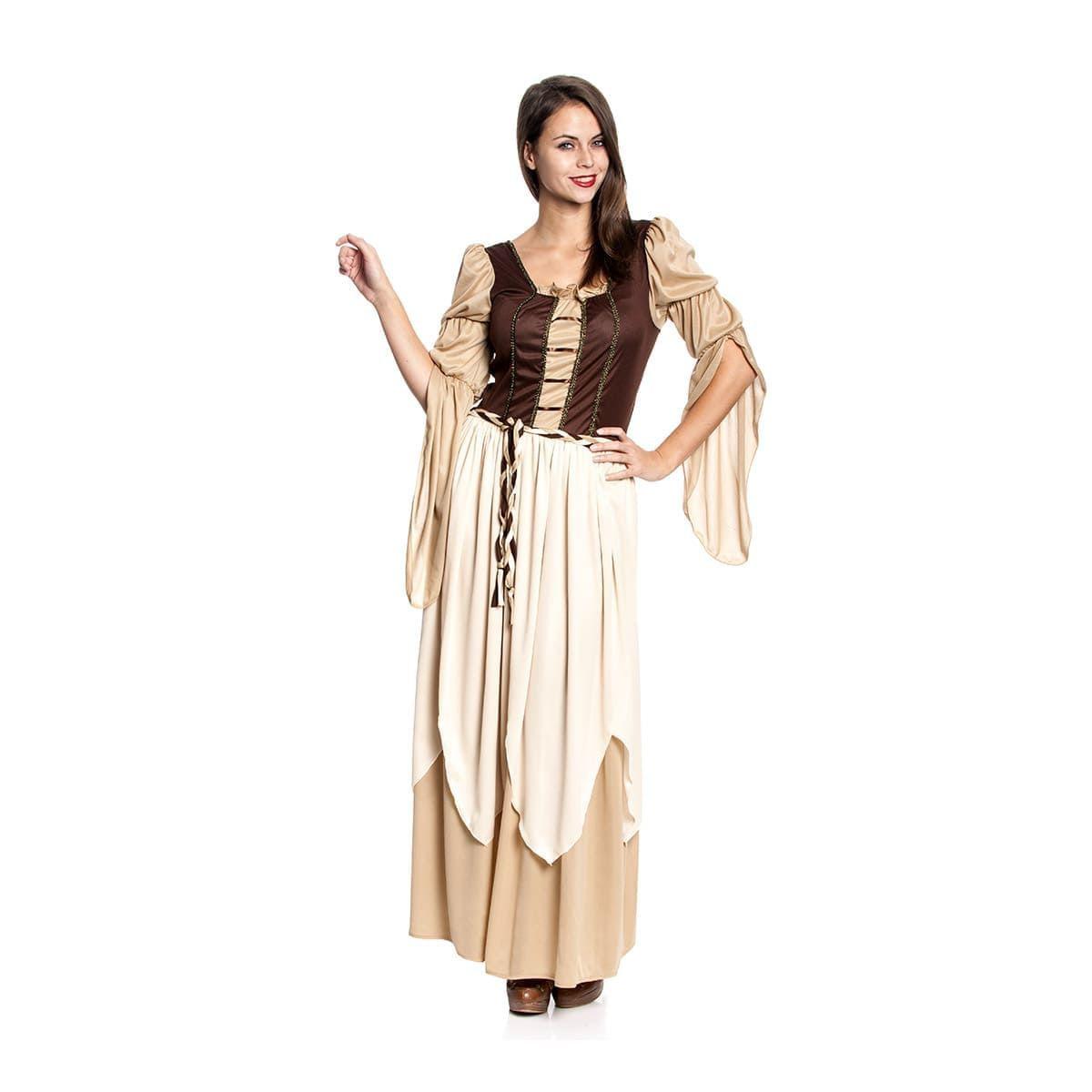 Mittelalter Magd Damen Kostüm Komplett Mit Tasche