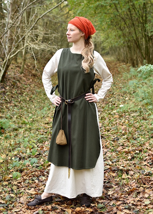 Mitteralterkleid  Überkleid Klara Grün
