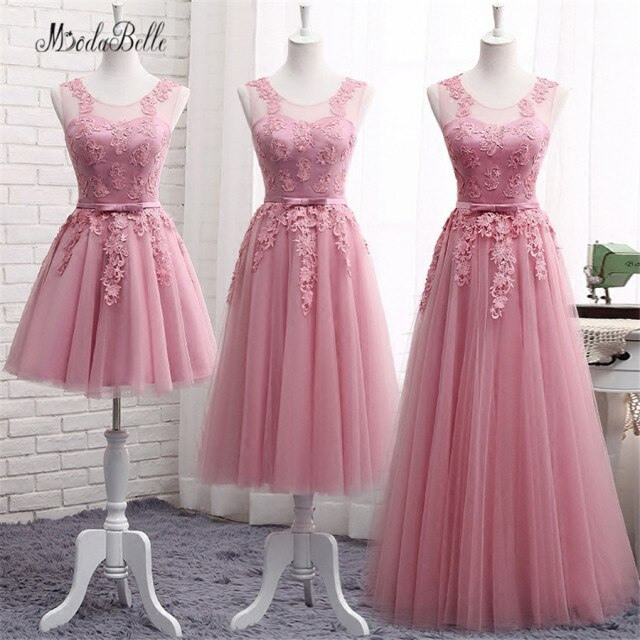 Modabelle Lace Dusty Pink Bridesmaid Dresses For Wedding
