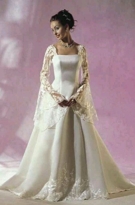Modern Celtic Wedding Dress This With The Coral Bouquet