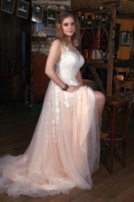 Moderne Brautkleider V Ausschnitt  Boho Hochzeitskleider