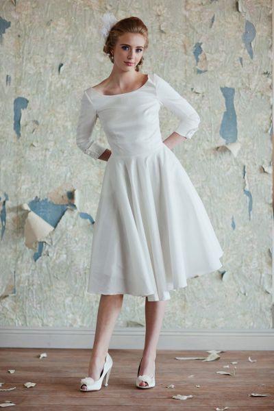 Moderne Midi Brautkleider  Ein Hauch 50S Glamour Für Ihre
