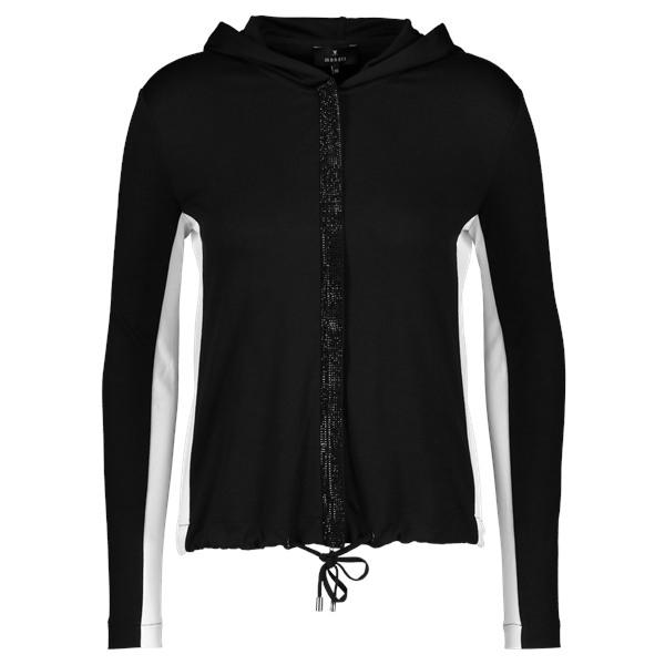 Monari Zwart Vest 405441 Bij Petra Lodewijk Mode