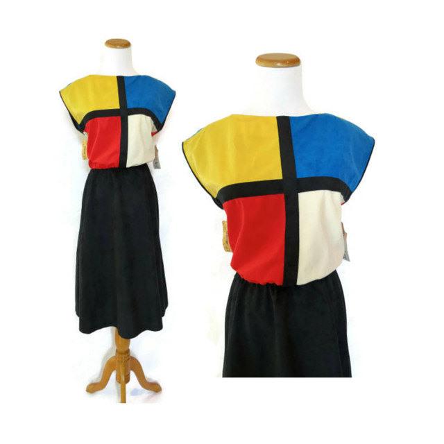 Mondrian Colorblock Dress / Piet Mondrian Dress