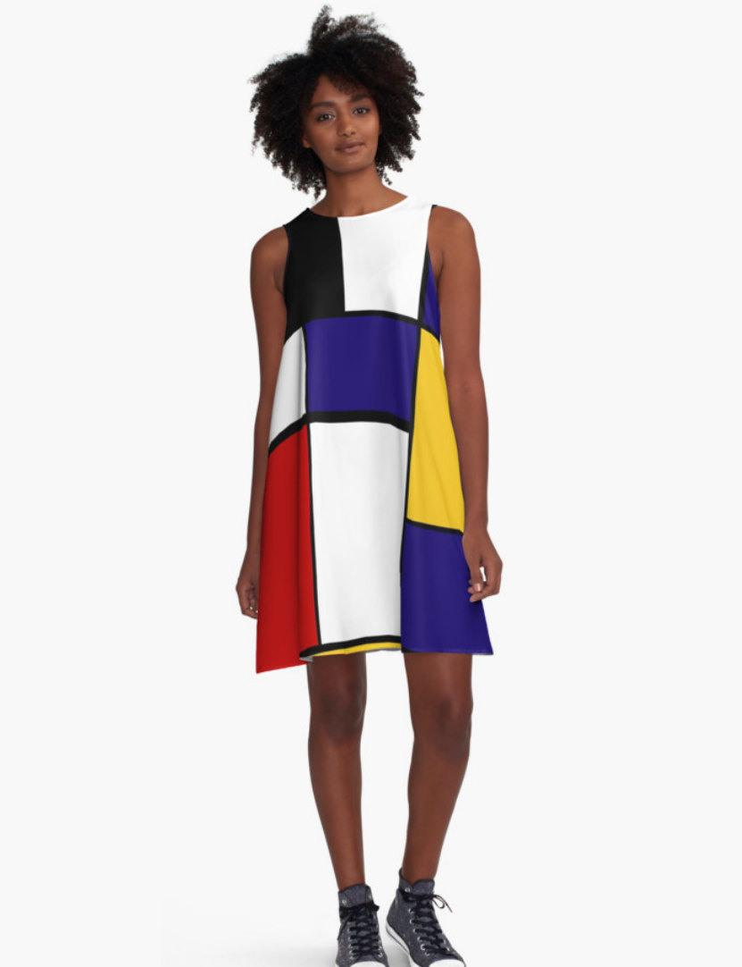 Mondrian Frau Kleid Kleid Für Die Frau Alinie Kleid  Etsy