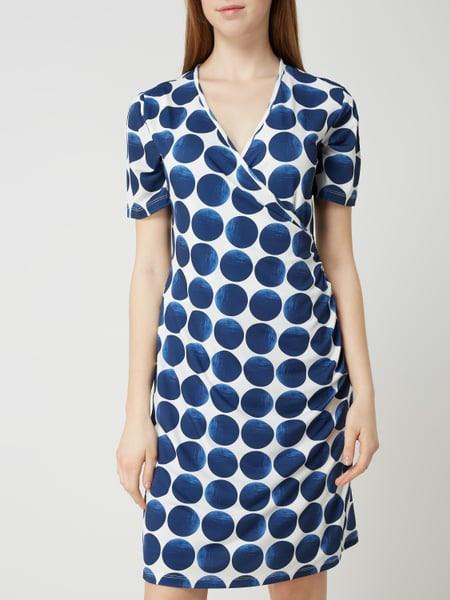 More  More Kleid Mit Punktmuster In Weiß Online Kaufen
