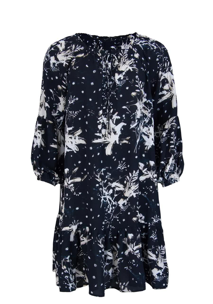 Mos Mosh Langarm Kleid Tikka Lily Offshoulder Muster