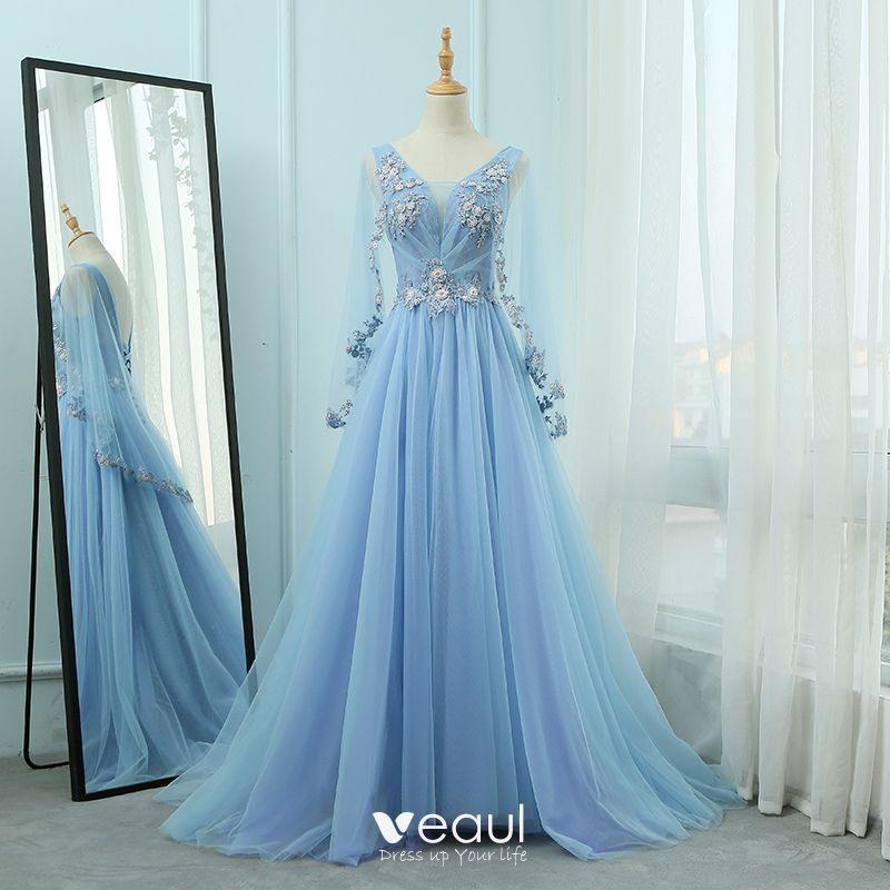 Motte Aufbauen Politiker Kleid Blau Lange Ärmel  Kasperlikat