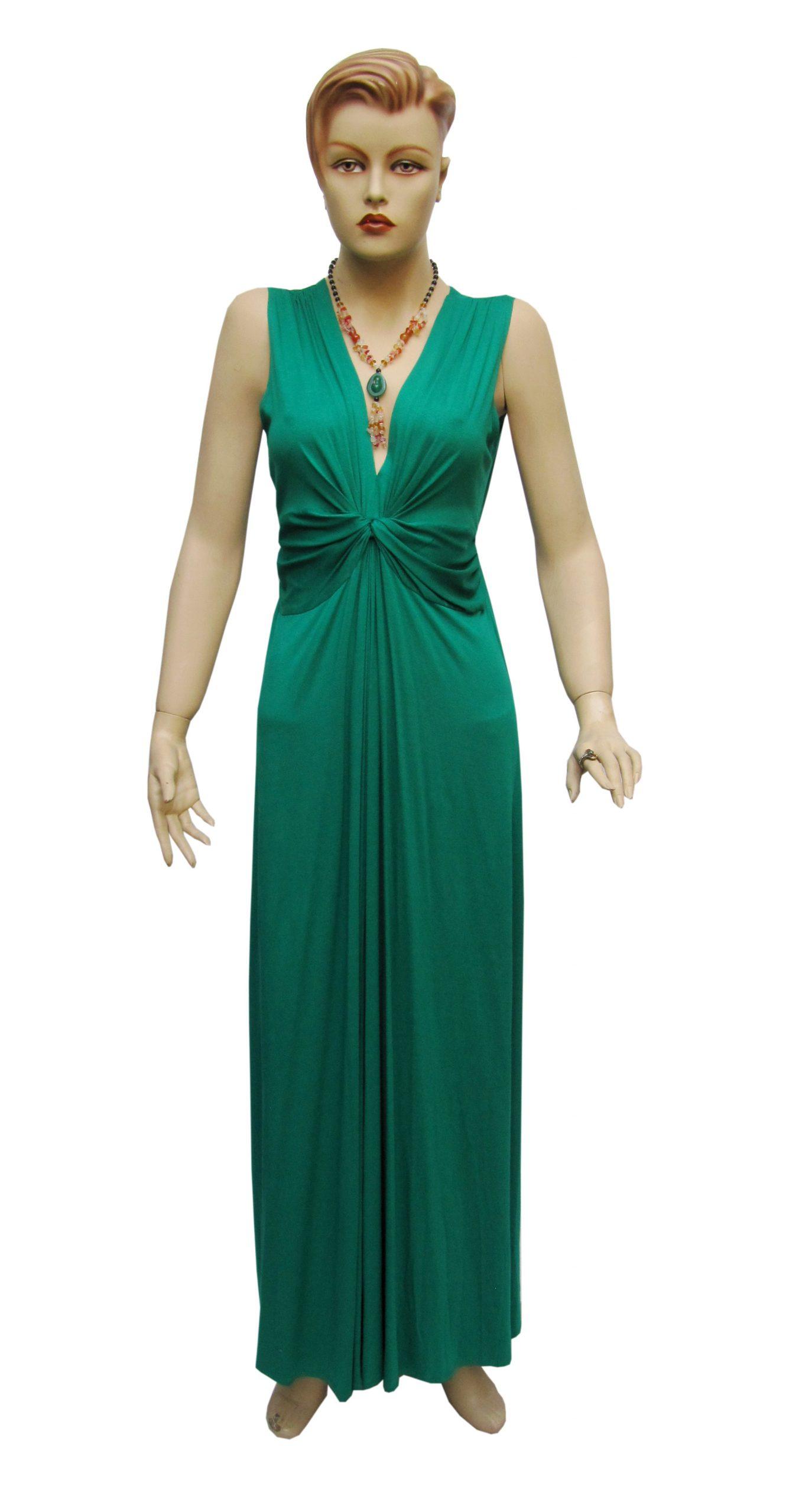 Muga Maxi Kleid Shirtkleid Grün  Damenbekleidung Köln