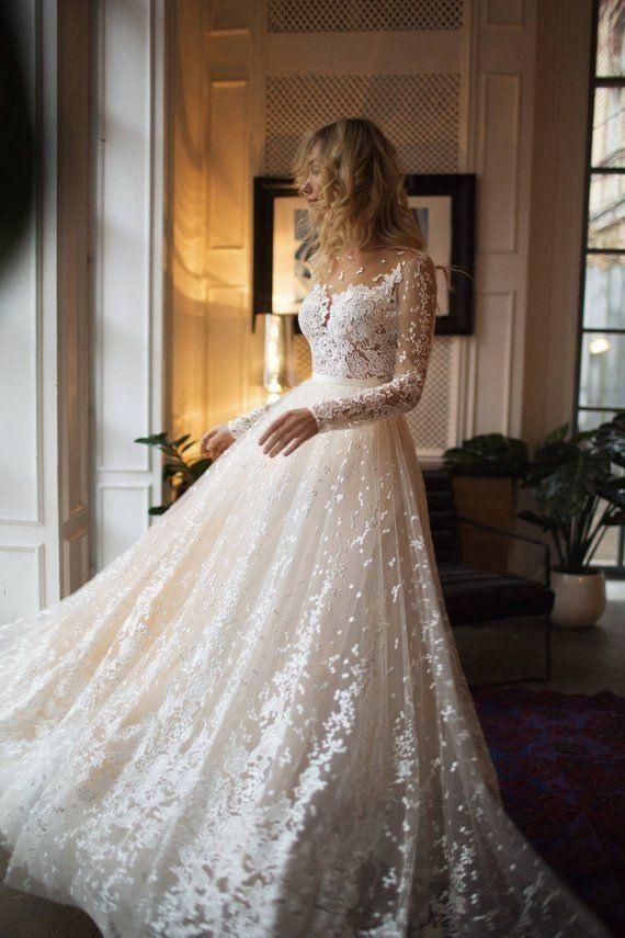 Muse Hochzeit Mit Langen Ärmeln Edriger Rücken Linie