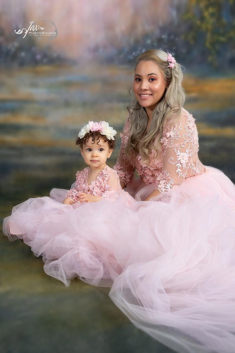 Mutter Tochter Passende Kleid Kleider Für Den Ersten  Etsy