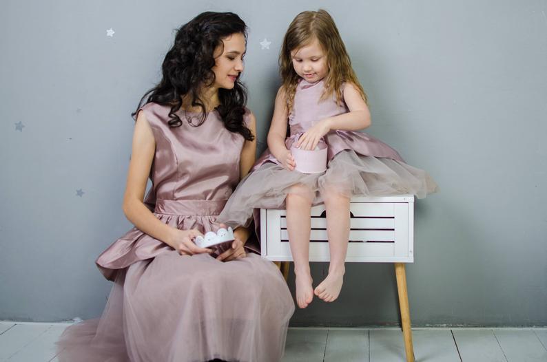 Mutter Tochter Passende Kleid Mama Und Mich Outfit 1  Etsy