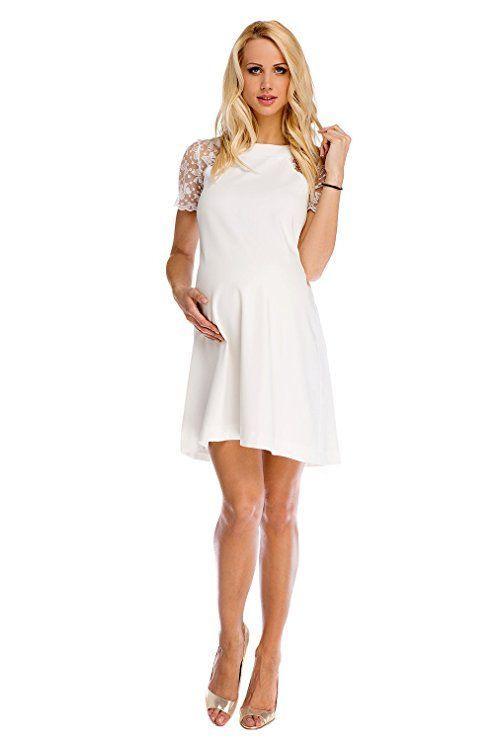 Mutterschafts Kleid Umstands Kleid Julia Mit Spitze A