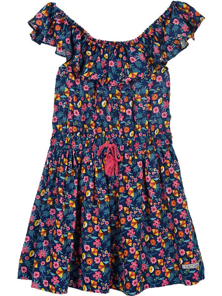 Naf Naf Kleid In Dunkelblau/ Bunt Günstig Kaufen  Limango