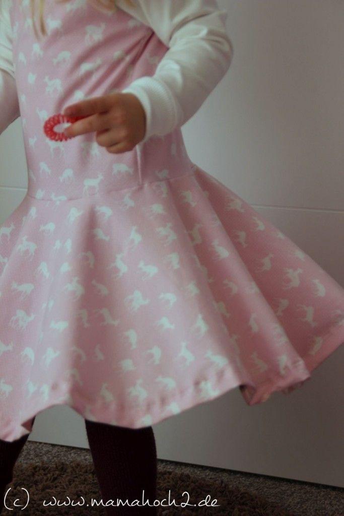 Nähanleitung Für Ein Drehkleid Für Mädchen  Schnittmuster