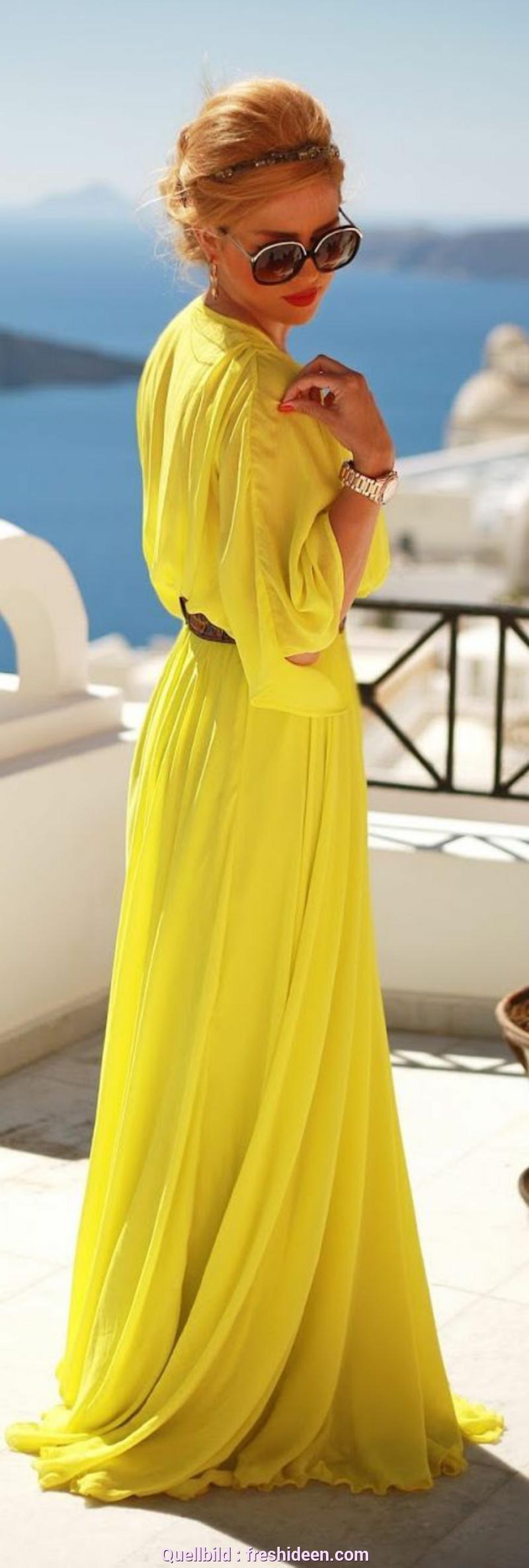 Natürlich Gelbes Kleid Lang Gelbes Kleid  Modische Gelbe