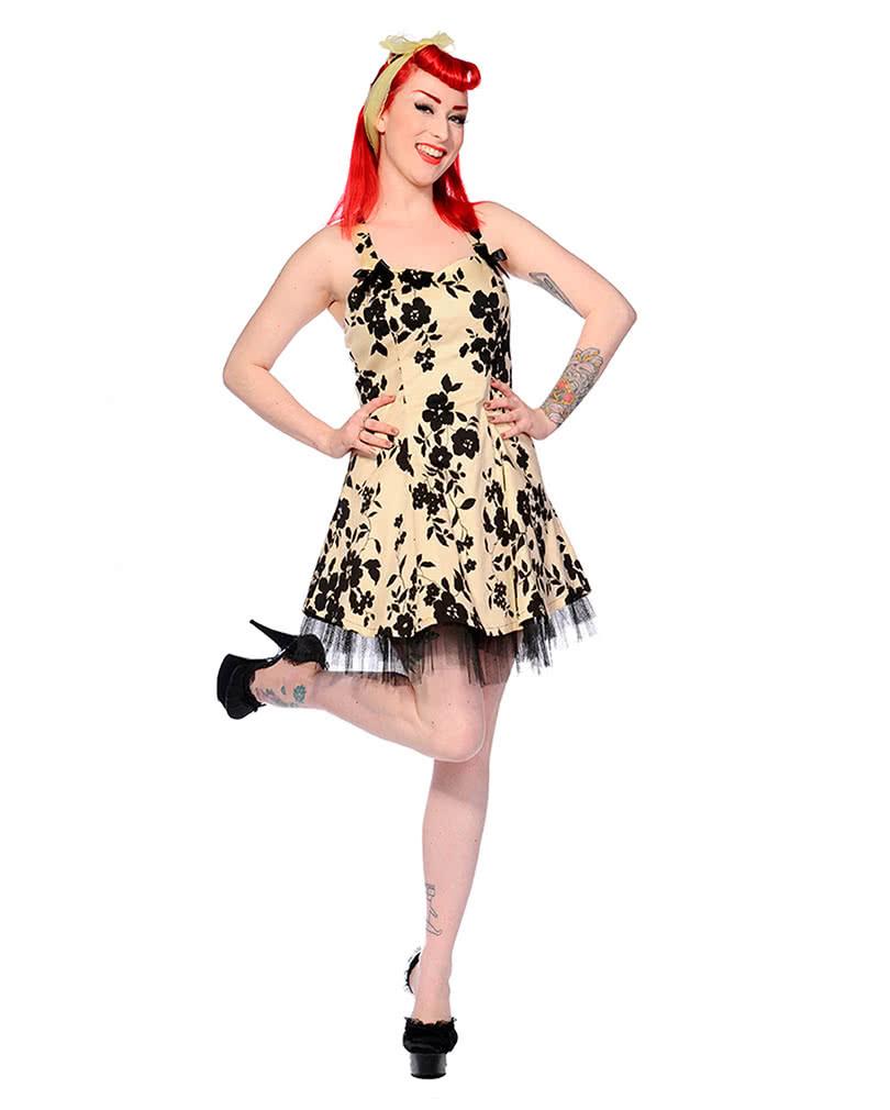 Neckholder Kleid Mit Blumen  50Ies Kleid  Petticoat