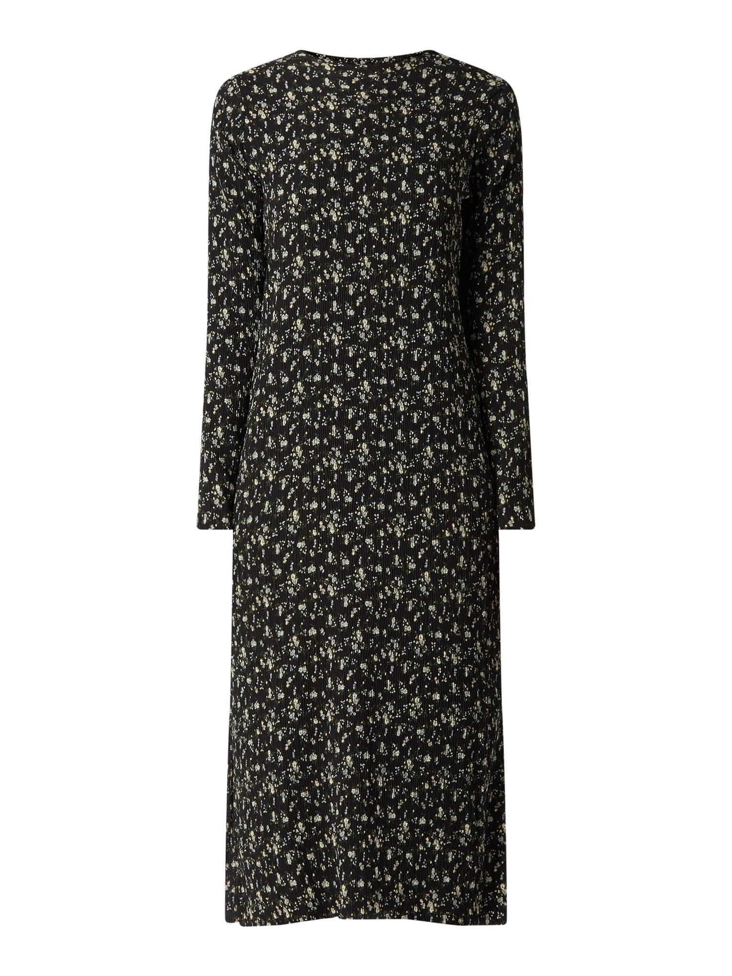 Neo Noir Kleid Aus Krepp In Grau / Schwarz Online Kaufen