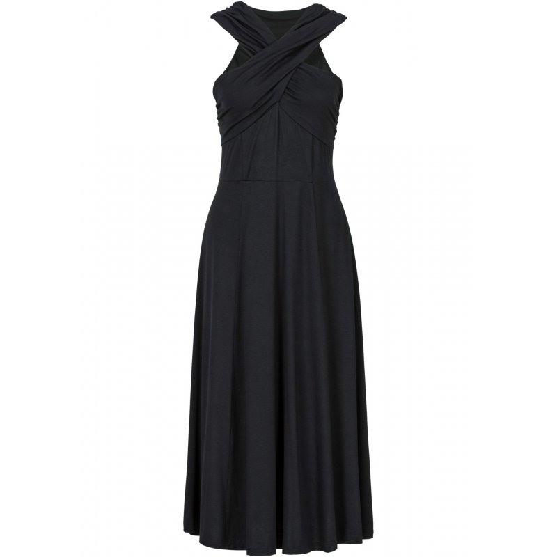 Neu Damen Shirtkleid In Gr 36 38 S Schwarz Maxi Wrap