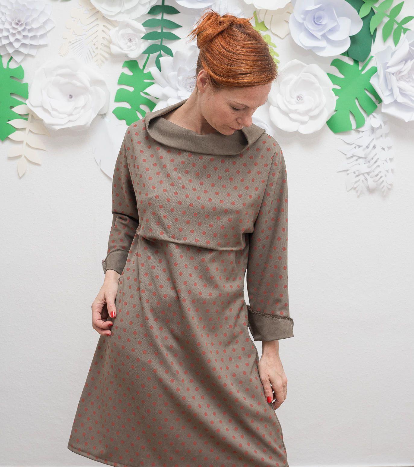 Neue Kimono Kleid Oversized Kleid Knielanges Kleid