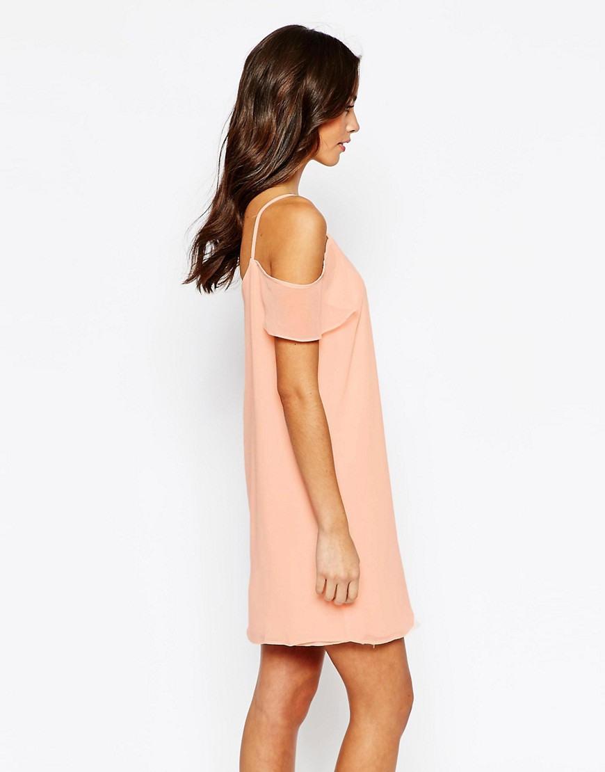 New Look  New Look  Schulterfreies Kleid Aus Chiffon Bei