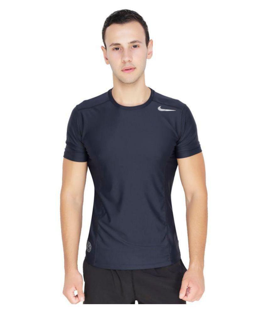Nike Black Polyester Lycra Tshirt  Buy Nike Black