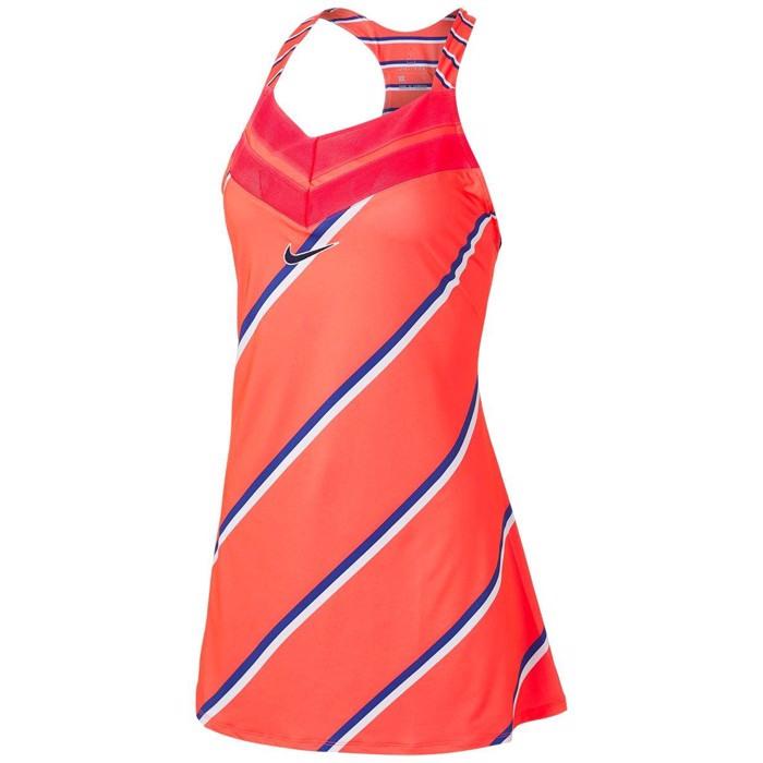 Nike Court Kleid Koral  Badmintonkleid  Guter Preis