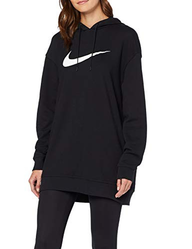 Nike Damen Nsw Swoosh Kleid Black/White L  Ikimius