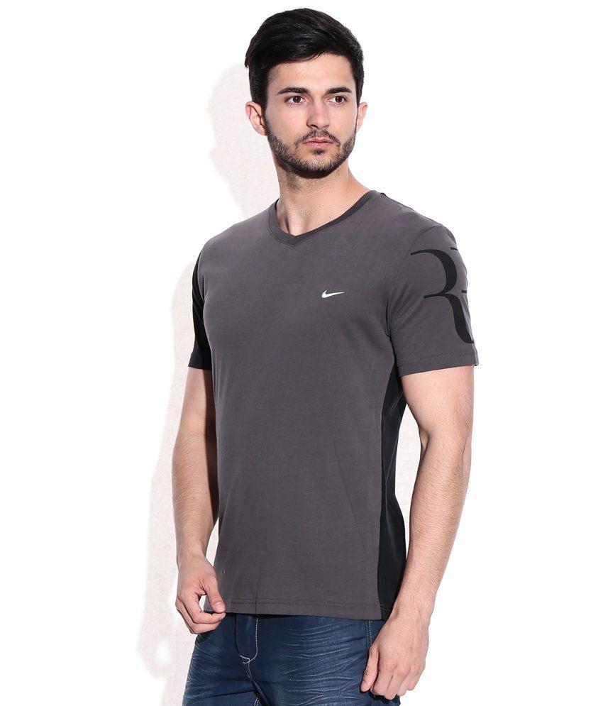 Nike Gray V Neck Tshirt  Buy Nike Gray V Neck Tshirt