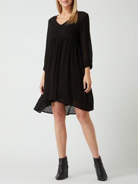 Nile Kleid Aus Viskose In Grau / Schwarz Online Kaufen