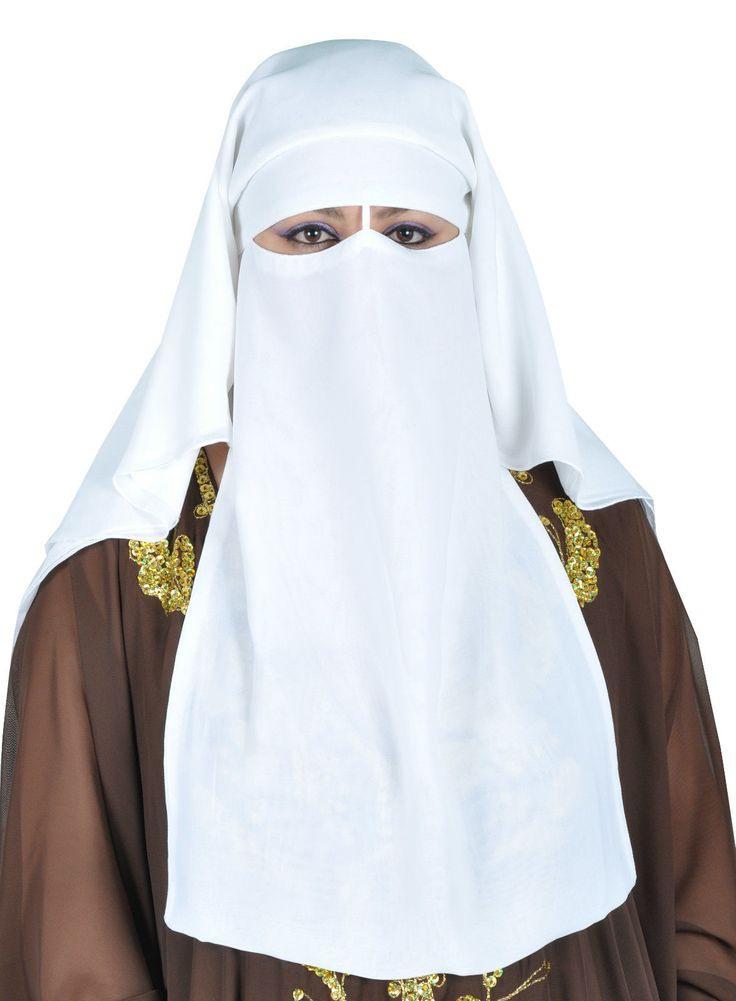 Niqab Dreilagig  Hijab Gesichtsschleier Burka Khimar