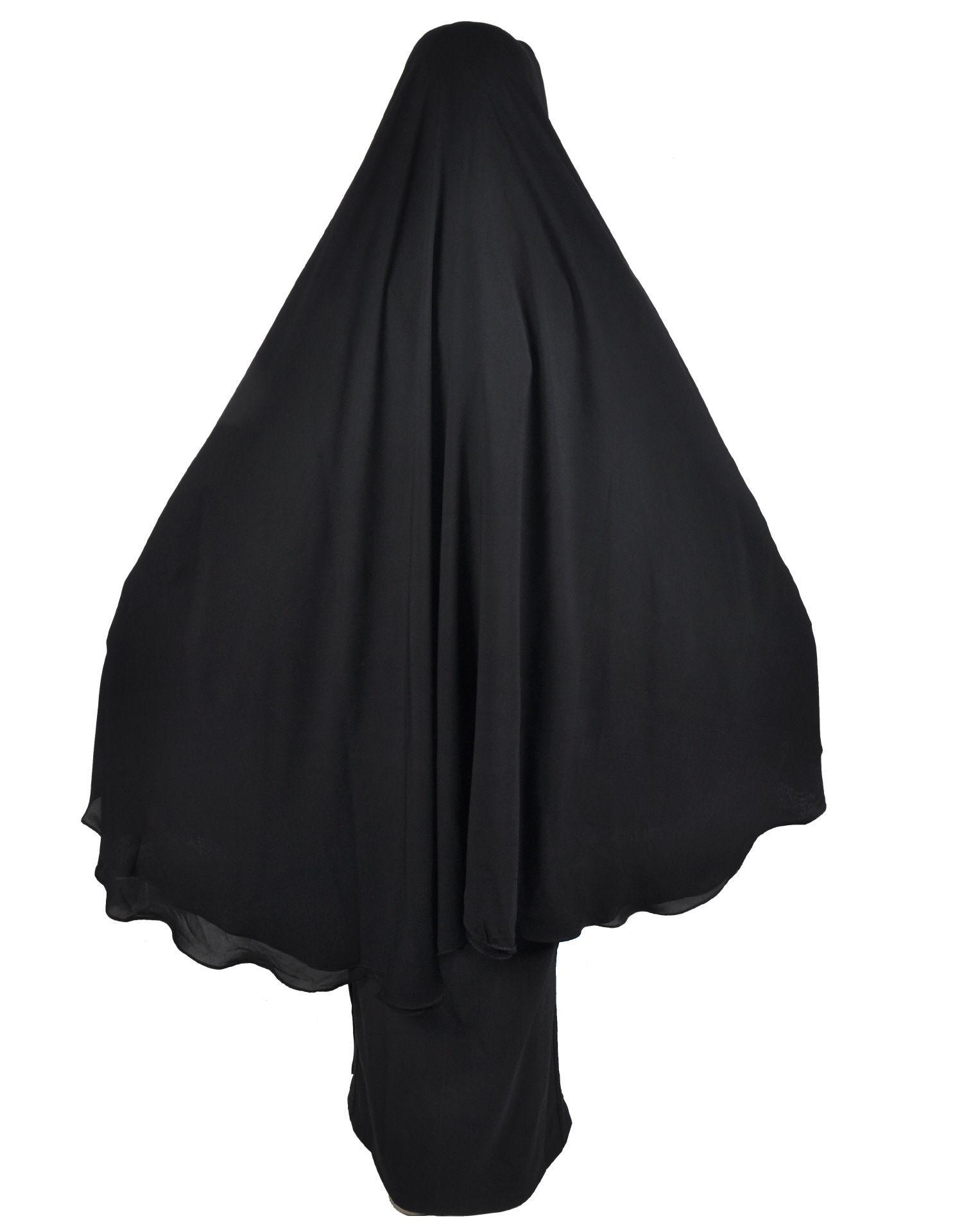 Niqabkhimar Schwarz  Islamische Kleidung Hidschab Kleidung