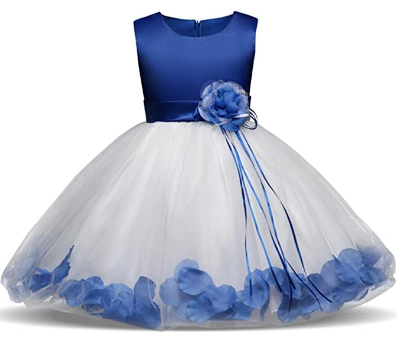 Nnjxd Mädchen Tutu Blütenblätter Schleife Brautkleid Für
