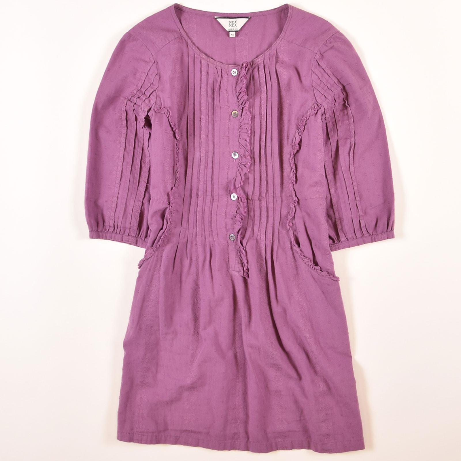 Noa Noa Damen Kleid Dress Grxs De 34 Lila 46538  Ebay