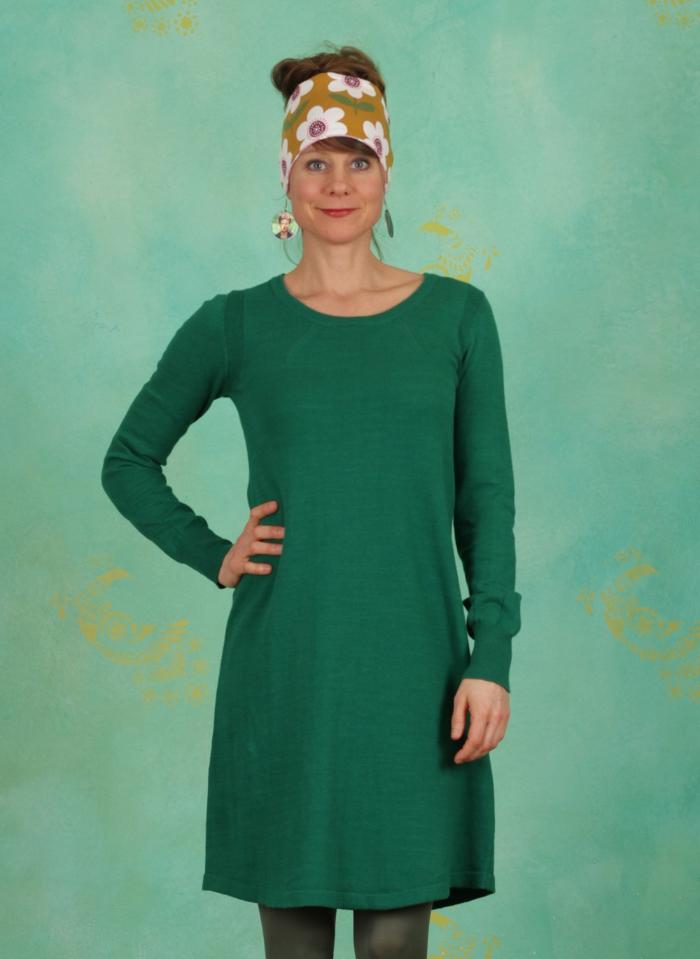 Noa Noa  Frühling  Kleid Basic Cotton Cashmere Lush